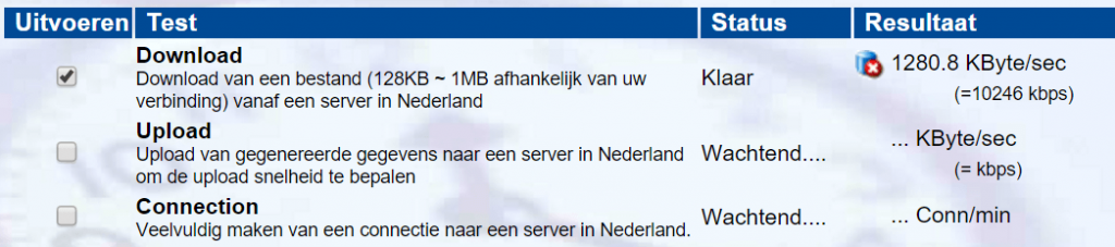 wat is mijn download snelheid