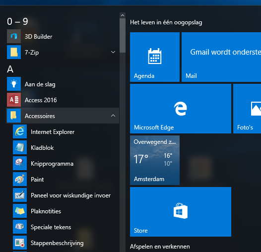 Hulpprogramma Windows 10